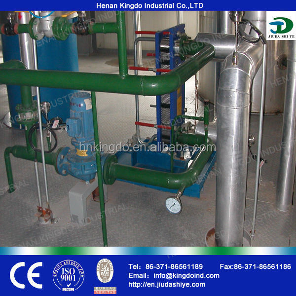 Kingdo company with CE ISO advanced technology palm oil refining plant,palm oil bleaching machine