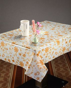 Transpa Printed Plastic Table Cover In Rolls Flower Design Tablecloth Designs Product On Alibaba