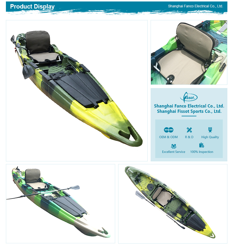 OEM customized angler kayak, transparent kayak, racing kayak for sale