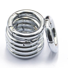 6 шт Рюкзак покрытый сплав круглый пружинный защелкивающийся крючки зажима брелок кольцо для брелоков маленькая собака поводки аксессуары ...(Китай)
