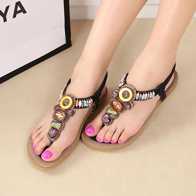 Saa3356 Latest 2015 Fashion Women Sandals Shoes Bohemia Style ...