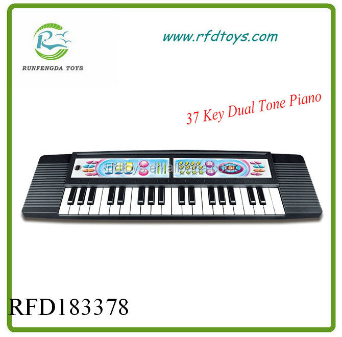 37 Keys Kids Black Color Electronic Keyboard Piano Musical Toy