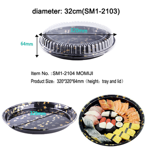 SM1-2104A Japanese Disposable Plastic Sushi Plate Set