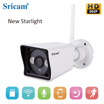 Sricam Sp023 Video Surveillance Mini Ip Camera 960p Onvif Wireless Outdoor Starlight Full Color Night Vision