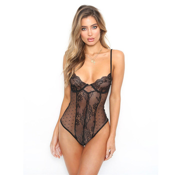 Sexy Lace For Womens Black Bodysuits