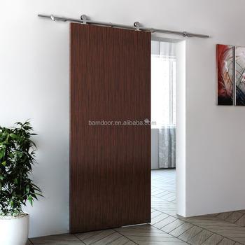 Morden Flush Sliding MDF Door With Hot Sell SS304 Sliding Barn Door Hardware  System
