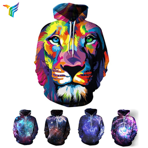 2018 new fashion 3D printed sublimation custom sweatshirt hoodies