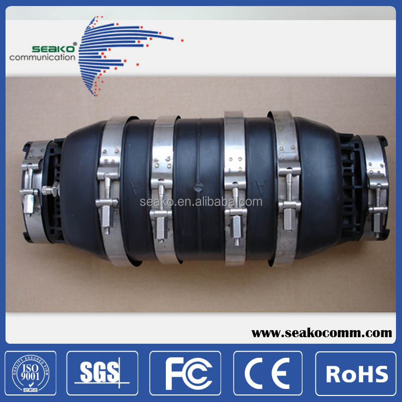96 cores, horizontal fiber optic splice closure | direct burial inline cable joint box