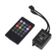 Durable LED Music IR Controller 12V 2A 20 Keys IR Remote Controllers for 3528 5050 RGB LED Strip Lights Mini Controller