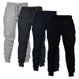 Wholesale men's bulk cargo pants sports casual sweat pants