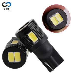 New T10 W5W 5630 6SMD Car Led Turn Signal Light Widely Used As Reading Lamp Trunk License Plate Lamp White 12V DC