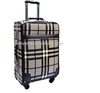 High quality Plaid travel luggage/luggage bags cases