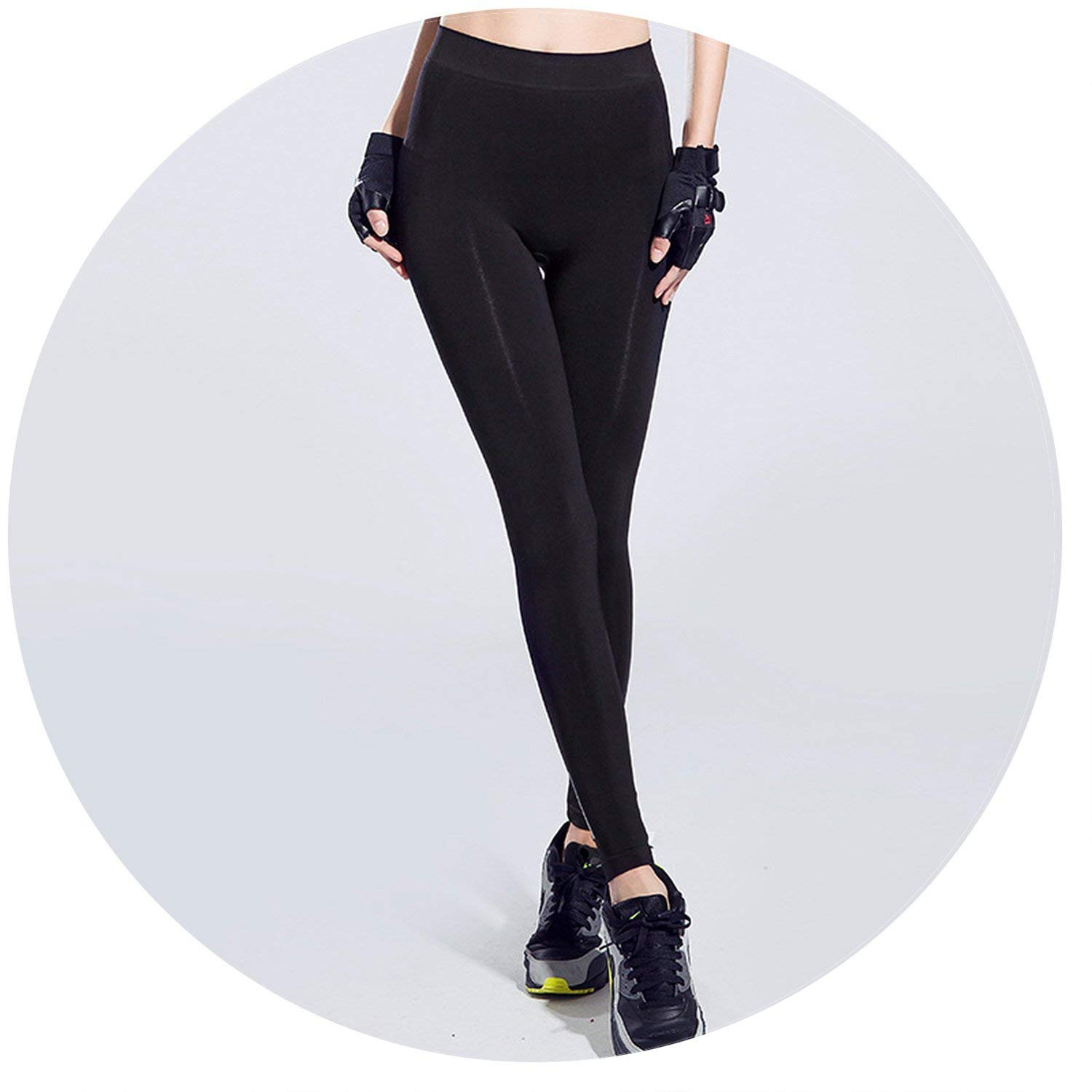 9c68abbbf9a47e Get Quotations · Women Yoga Pants Fitness Sports Leggings Solidwear Push up  Pants Athletic