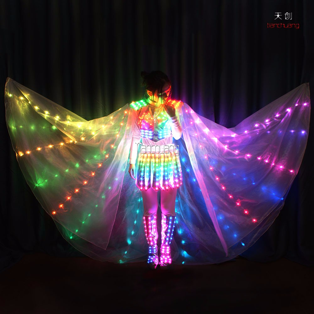 Adult Light Up Fairy Stage Costume Wings Dress 2016 Hand ...