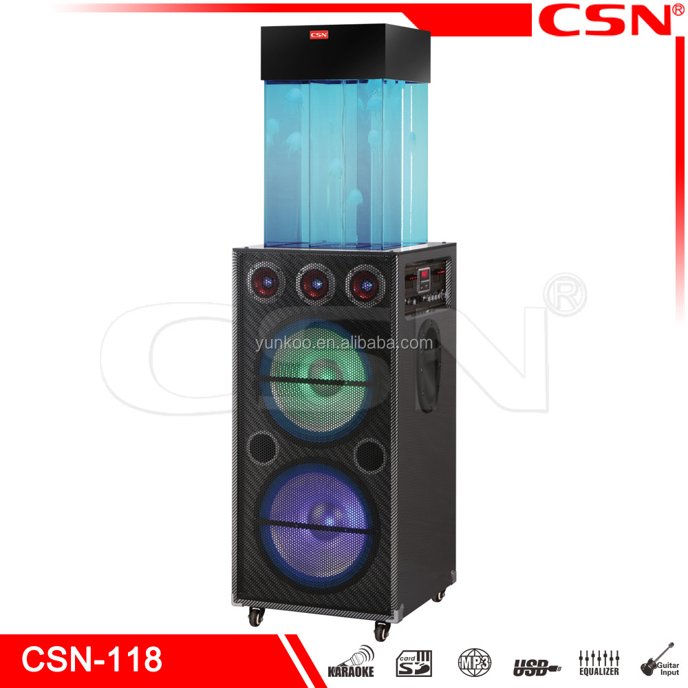 2017 Latest Model with Automatic Filtering Function Fountain JellyFish Trolley Speaker with Moon Light and Remote