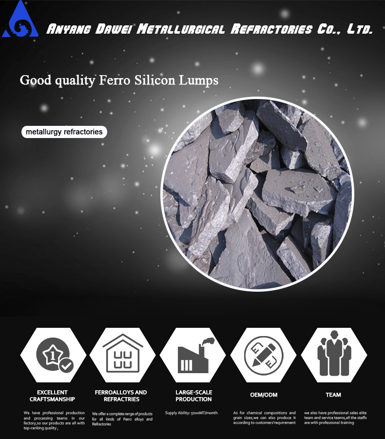 Fe Si metal /ferro silicon alloys from Anyang Dawei on sale