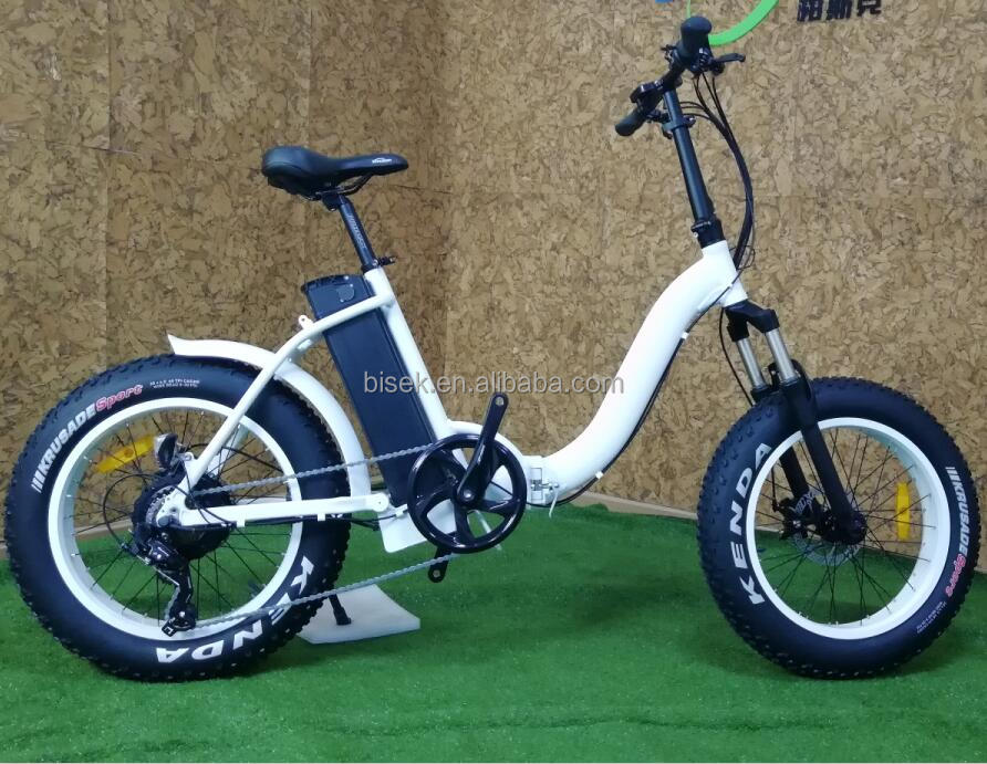 Small Folding electric bike 48v 500w hub motor 20inch fat tire electric bike