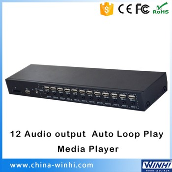 Metal Shell 12 Audio output Auto Loop Play advertising usb audio player sd card usb media player for tv definition audio media