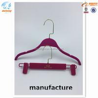 velvet plastic hanger gold square hook for female dress