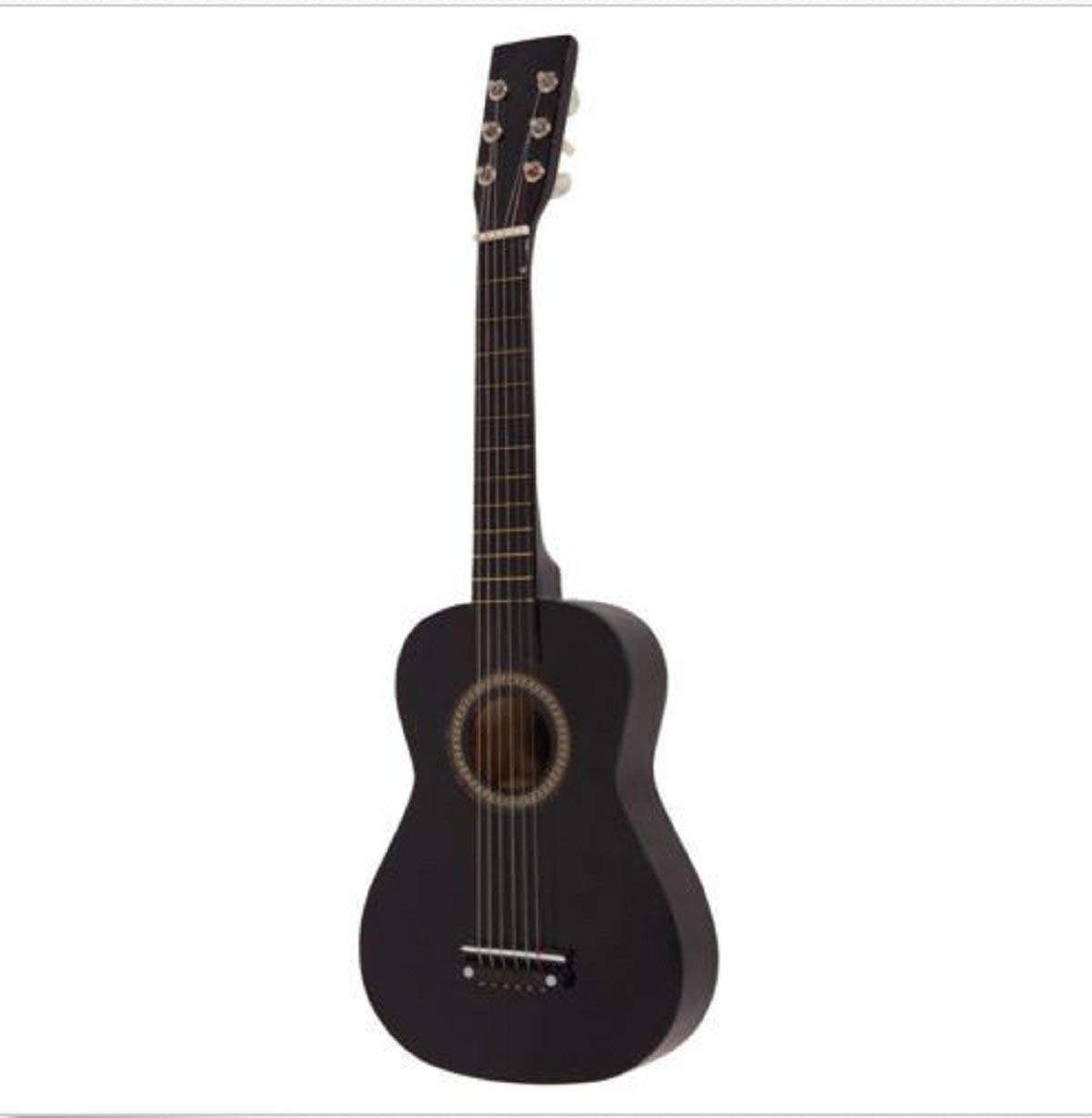 """USA Premium Store New 25"""" Beginners Acoustic Guitar 6 String with Pick Children Kids Gift Black"""