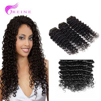 Cheap 2016 factory Wholesale Virgin Indian Deep Curly Hair 7A Aliexpress Indian Remy Human Hair Extensions