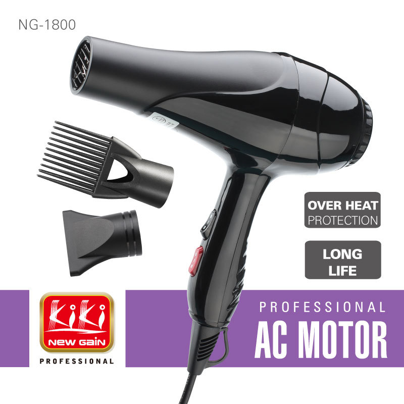 1600 1800w ac motor hair dryer professional variable for Ac motor blow dryer