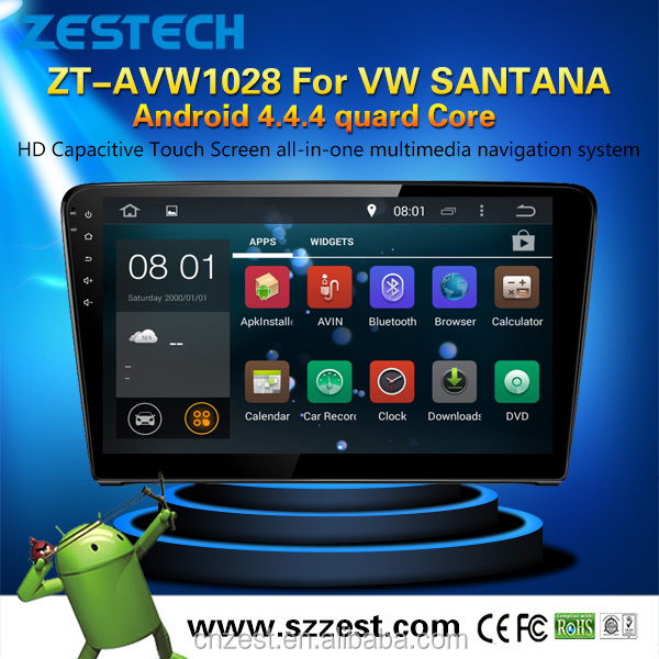 Shenzhen Zestech 2 din android car dvd for vw SANTANA with 1G RAM