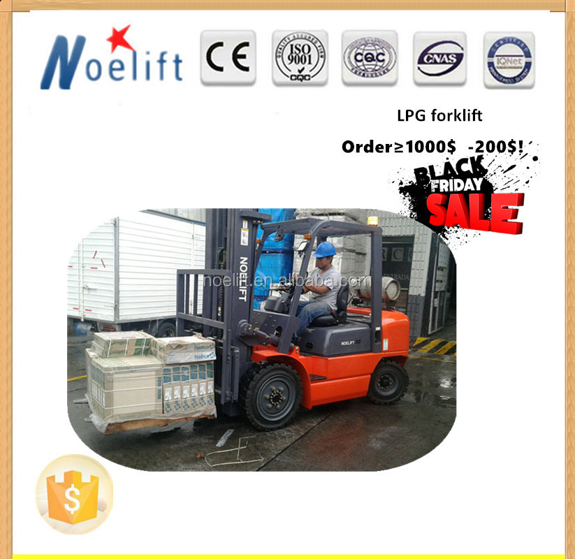 2.0 ton LPG fork lifters hydraulic pump forklift side load forklift truck 3tons 6m LPG Forklift for sales