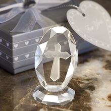 brilliant clear Crystal Cross Wedding gift