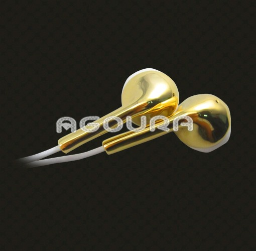 Available plating 24k golden earphone for iphone