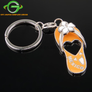 Custom Metal Girls Slipper Bottle Opener Keychain