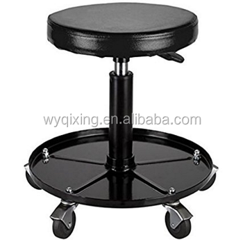 Astonishing Black Adjustable Rolling Garage And Shop Seat Mechanic Stool View Mechanic Stool Seven Product Details From Wuyi Qixing Machinery Technology Co Andrewgaddart Wooden Chair Designs For Living Room Andrewgaddartcom