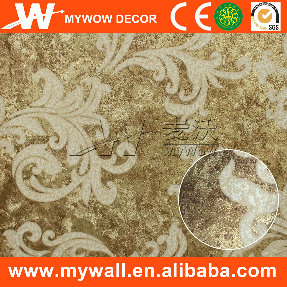wallpaper dinding murah,factory closeout white and silver glitter wallpaper