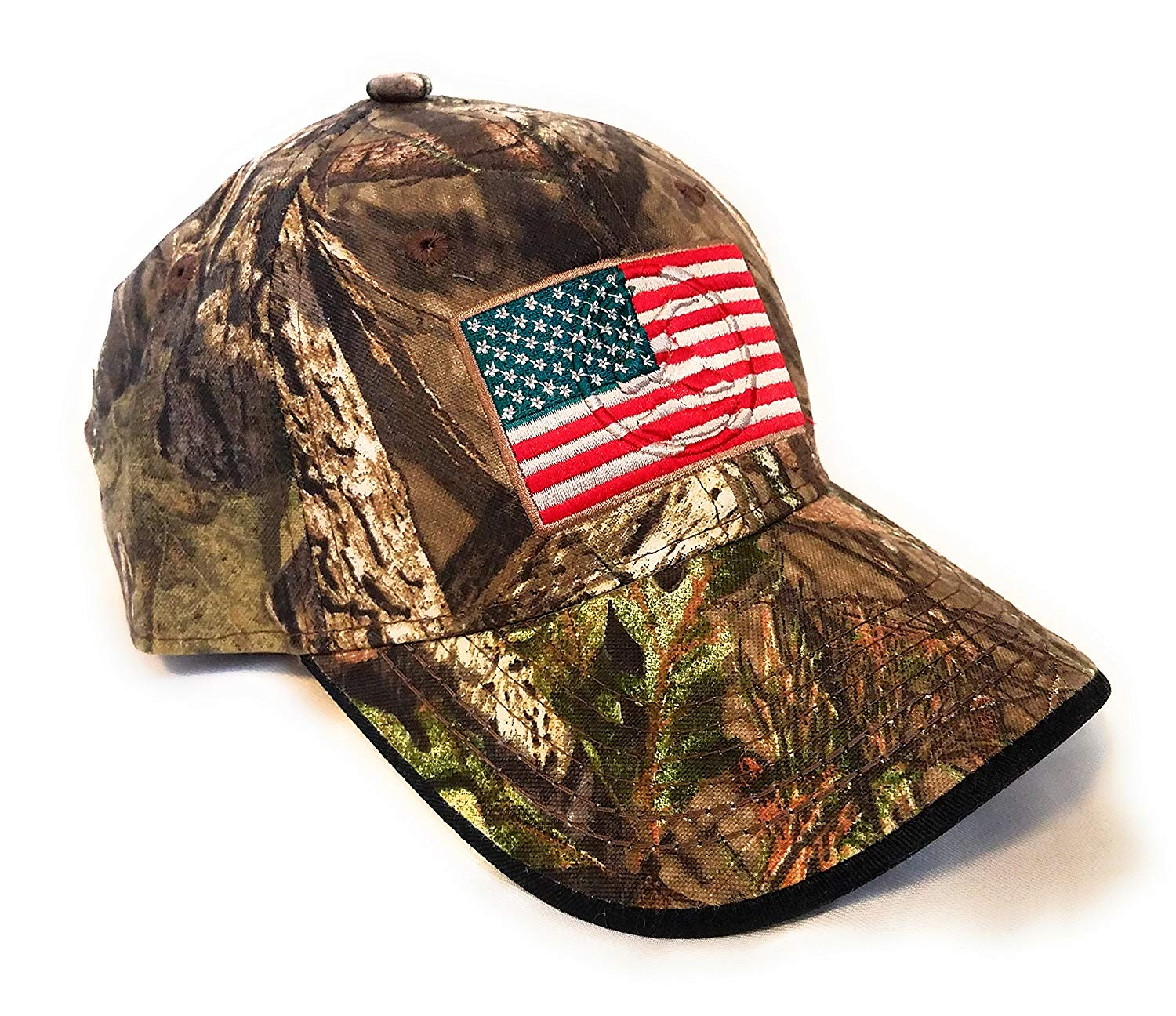e74a98d4c3ccc7 Get Quotations · Mossy Oak Camping, Hunting, Outdoors American Flag Camo Cap,  Army Military Camo Cap