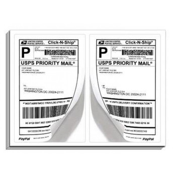 200 shipping labels blank half page self adhesive for laser inkjet
