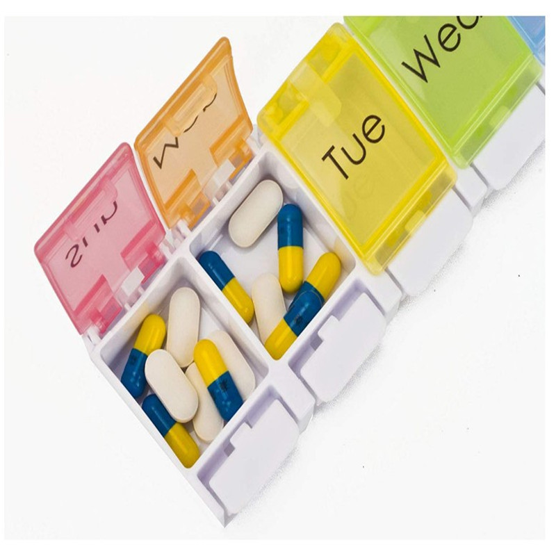 Promo wholesale mini weekly plastic pill box 7 days
