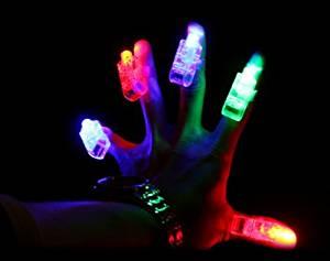 100 pcs/lot led finger light 4 color laser finger lamp light for wedding, party. birthday,Chistmas decoration toy