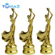 Metal custom beauty stature metal golden trophy cup