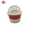3 Ounce/125ml Party Red And White Paper Cup With Ice Cream