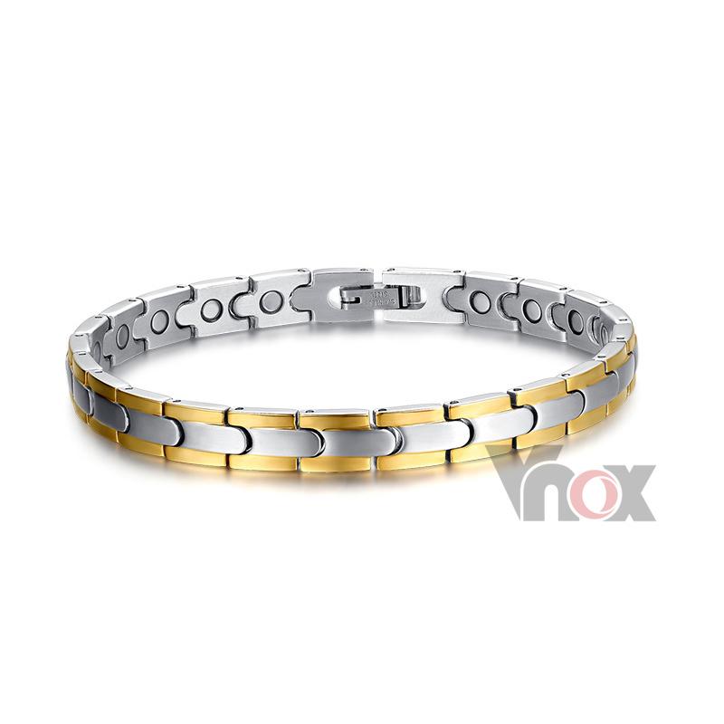 Здоровый магнитный браслеты нержавеющая сталь браслет для мужчины 7 мм широкий цепь мужчины в браслеты и браслеты