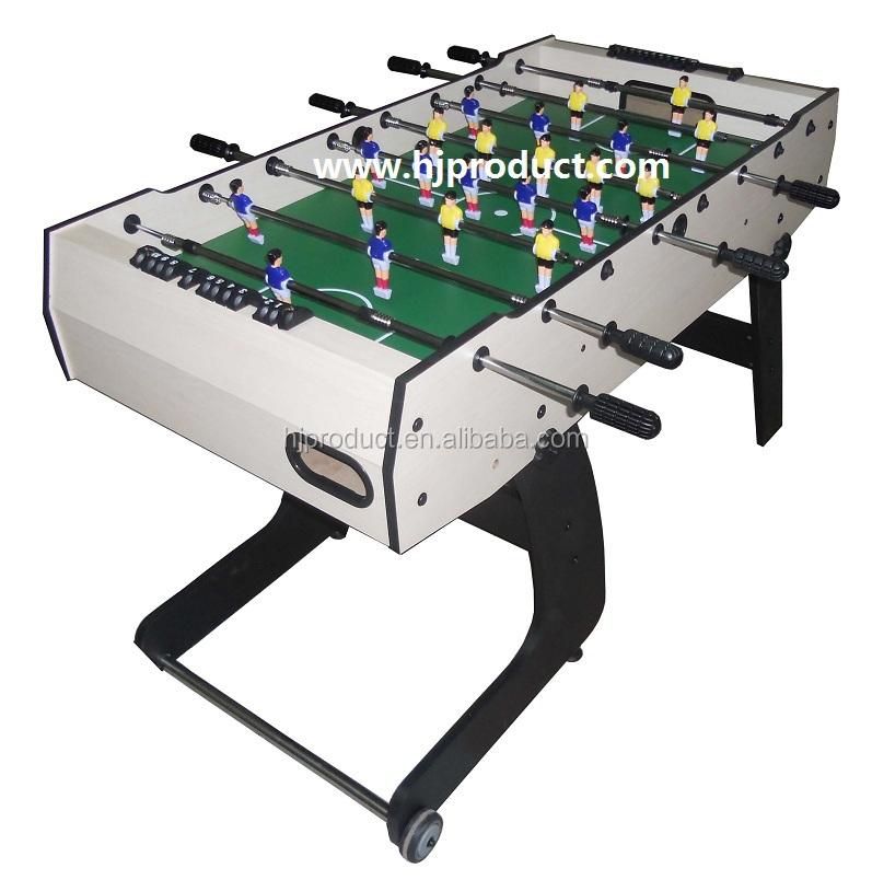 Moveable Foosball Table With Folding Leg
