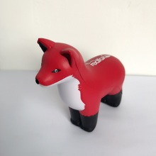 Custom animal design fox shape stress ball