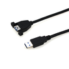 factory price OEM 1m 2m 3m 5m 3.0 USB date Cable Male to Female AM-AF With Screw Panel Mount