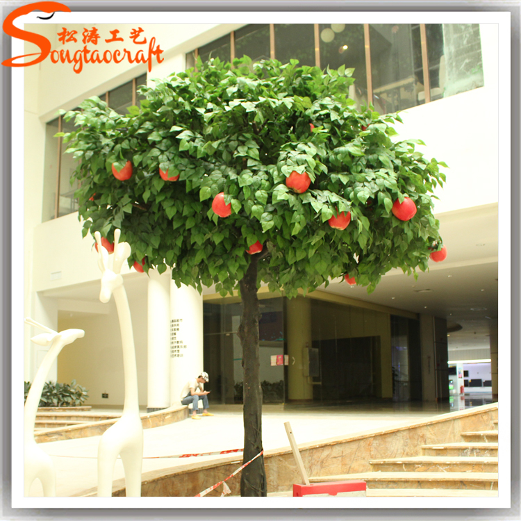 Indoor decorative fake apple tree large plastic apples for sale ...