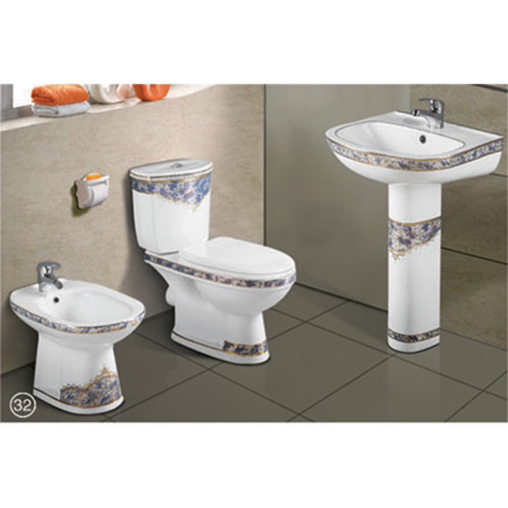 Full Set Wash Basin+toilet+bidet For Bathroom Fixture (0010) - Buy ...