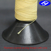 filament fiber Kevlar sewing thread with ss304 wire