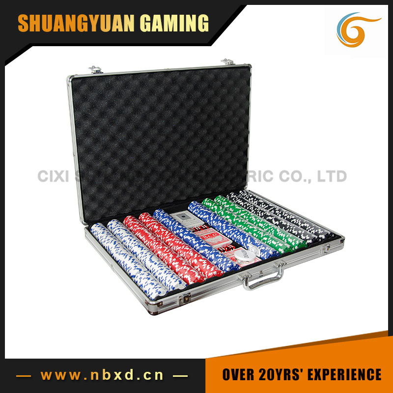 1000 Poker Chip Set Met Aluminium Case