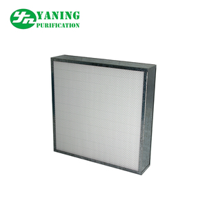 H13 hepa filter mini pleats with galvanized frame