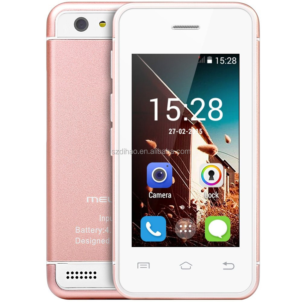 DIHAO Mini size smartphone melrose s9 android 4.4 mtk6572 dual core smart card phone s9 smallest android phone