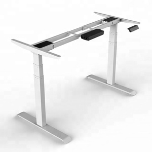 Dual motors 640-1290mm electric height adjustable standing desk base